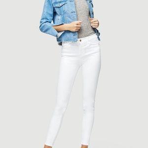 FRAME DENIM White High-Rise Skinny Jeans
